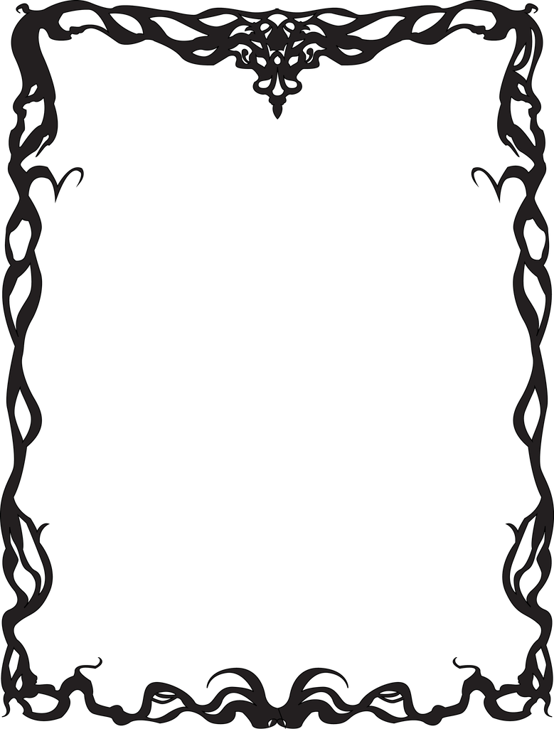 By justencase on deviantart. Art nouveau border png image freeuse library