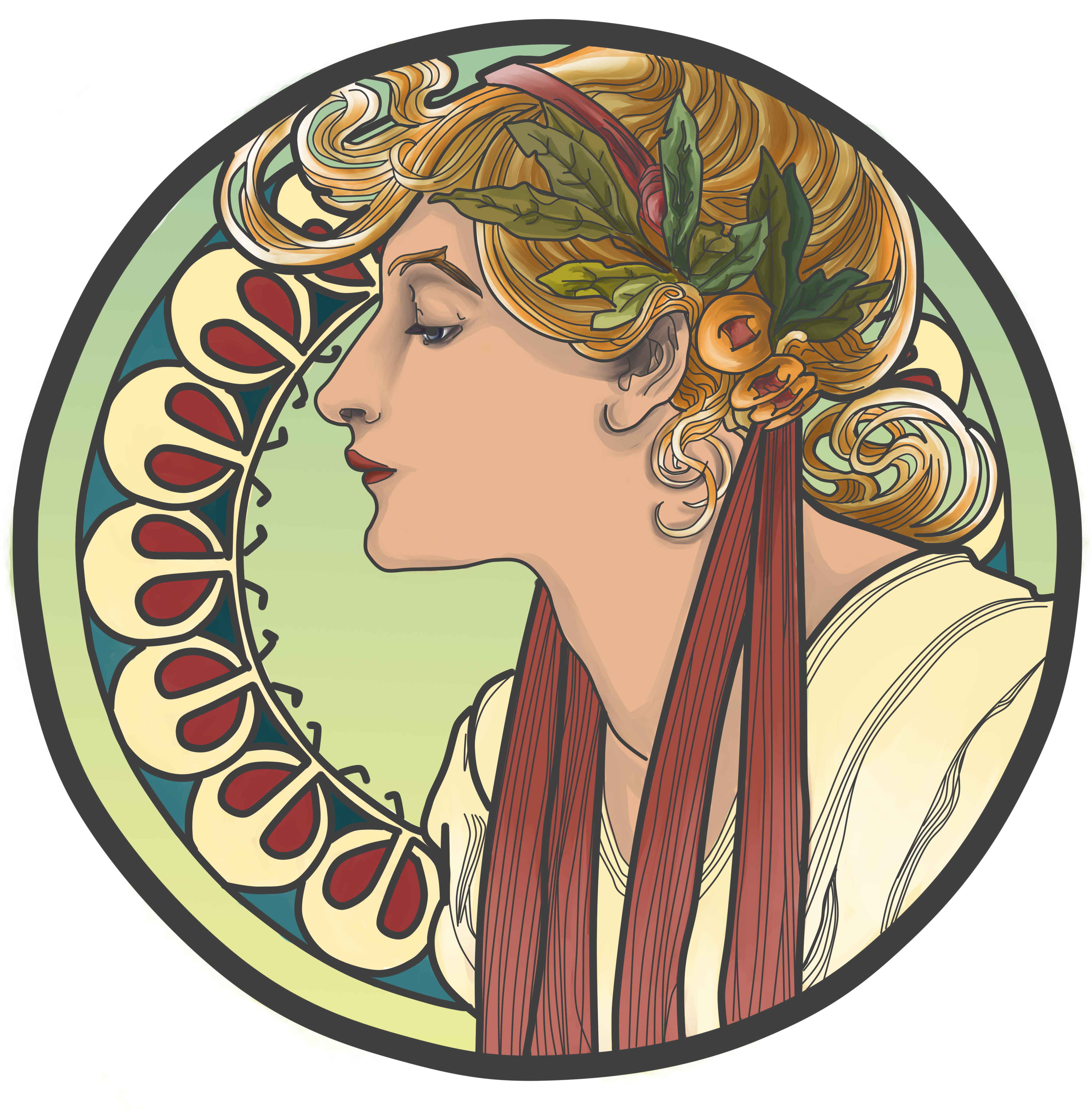 Year visual arts. Art nouveau png svg free download