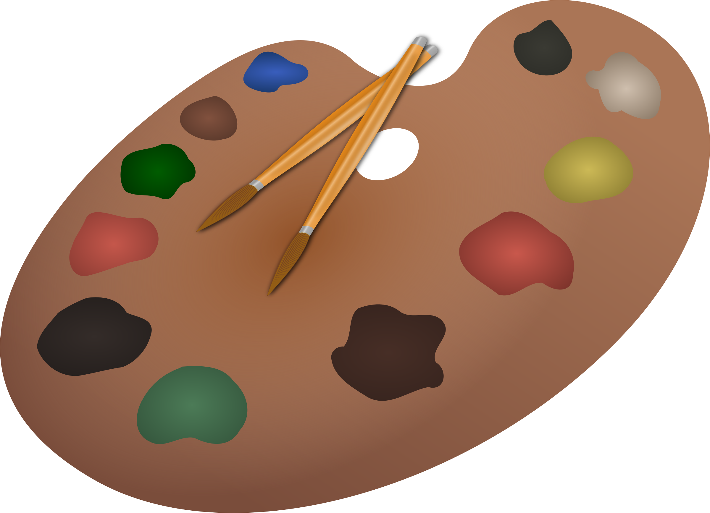 Paintbrush and palette png. Paintbrushes icons free downloads