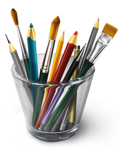 Art supplies png. Materials icon