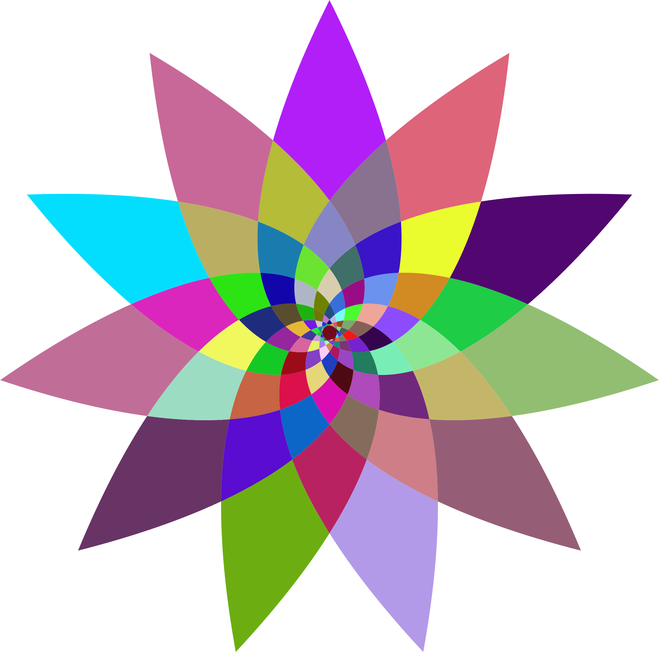 Art svg abstract. Prismatic flower line icons