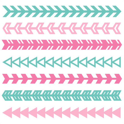 Art svg arrow design. Borders set scrapbook cut