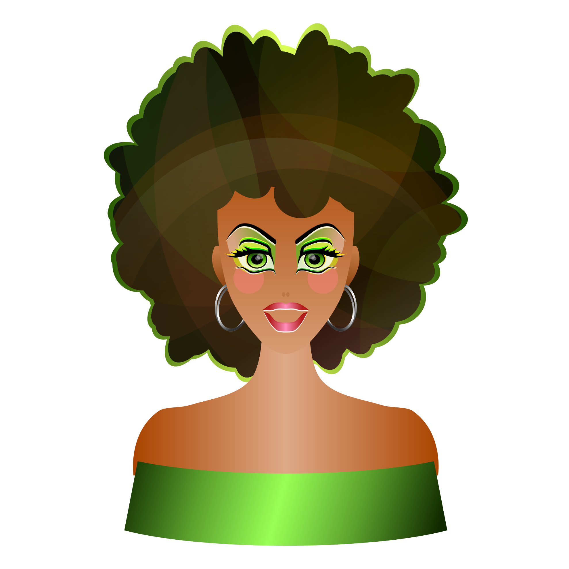 Art svg black lady. Afro woman silhouette at
