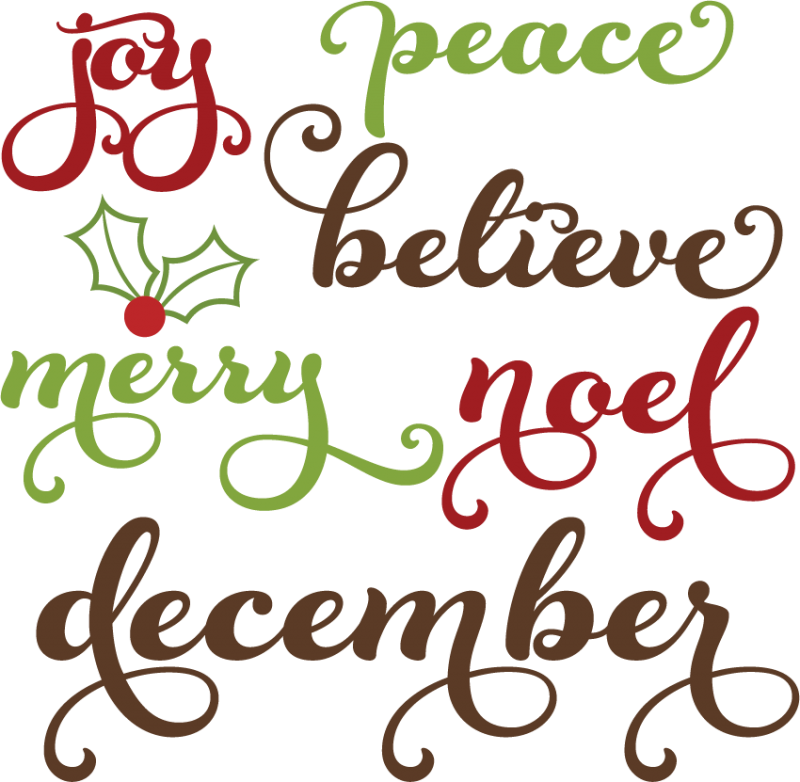 Svg sayings bless. Christmas words cutting files