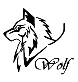 Art svg tribal. Wolf logo picture