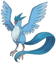 articuno transparent flying