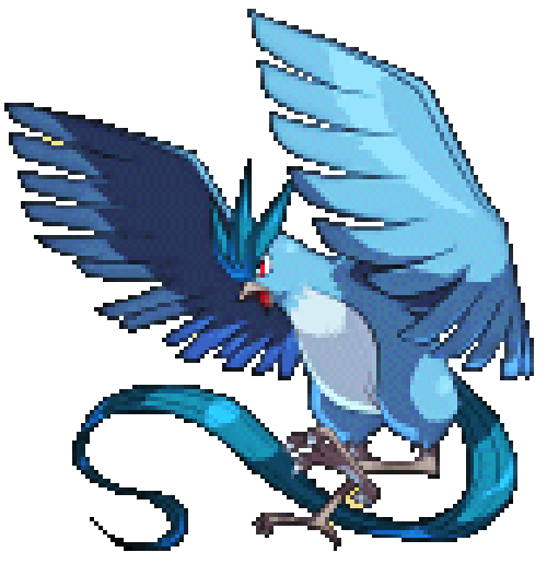 Articuno transparent. Birds ice flying legendary