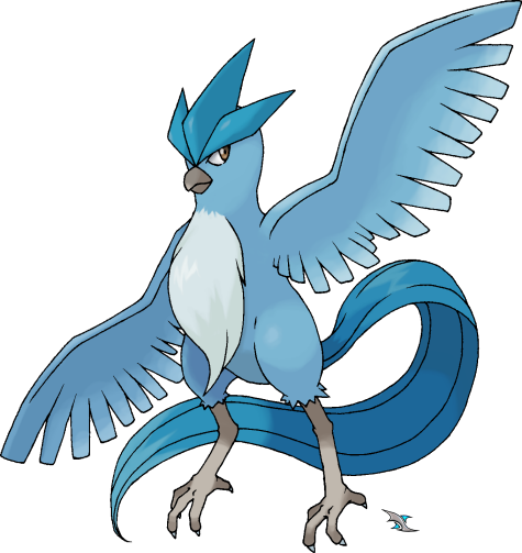 Articuno transparent. By xous on deviantart