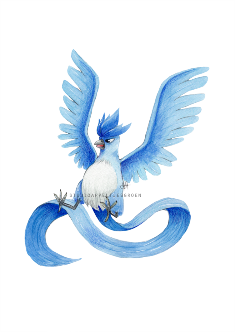 Articuno transparent 8 bit. Team mystic by appeltjesgroen