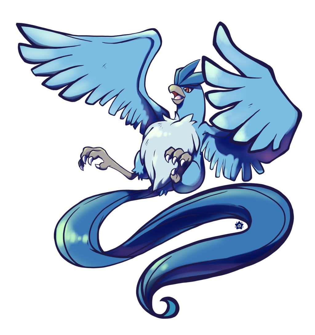 Articuno transparent avatar. By crayon chewer on