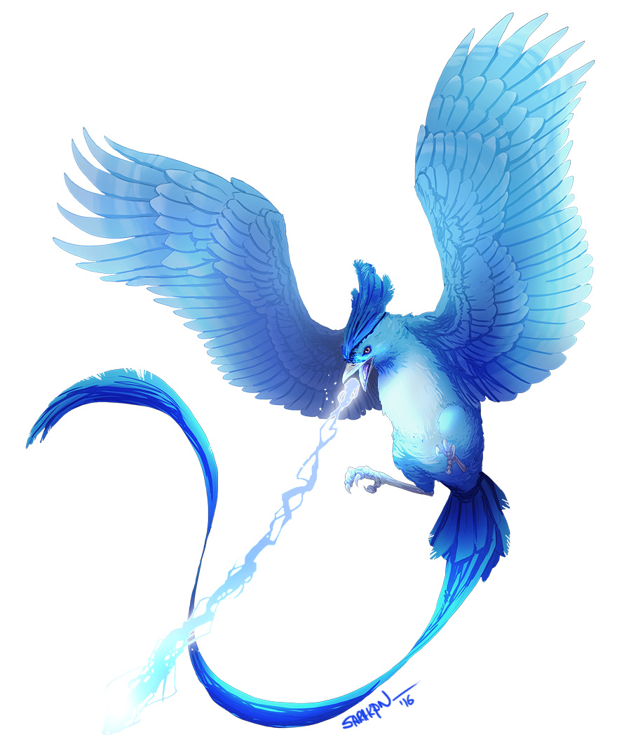 Articuno transparent gen. Used ice beam