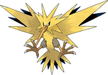 Wikipedia pokmon artpng. Zapdos drawing realistic image library