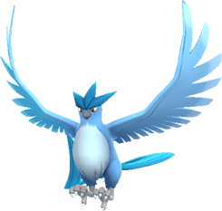 Articuno transparent gen. Pokemon go raid boss