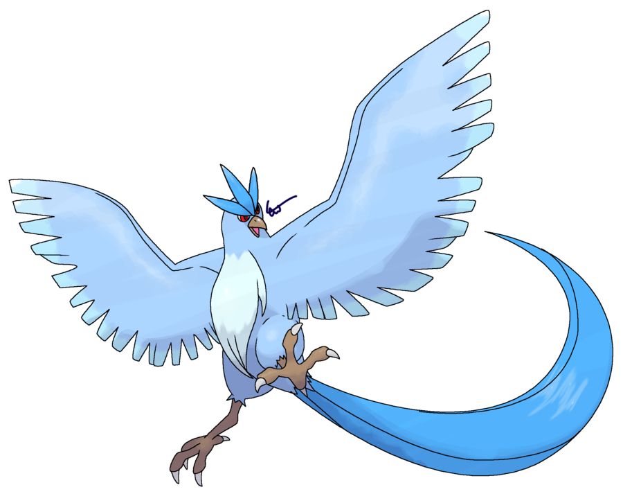 Articuno transparent shiny. Revamped by cherubimonx on