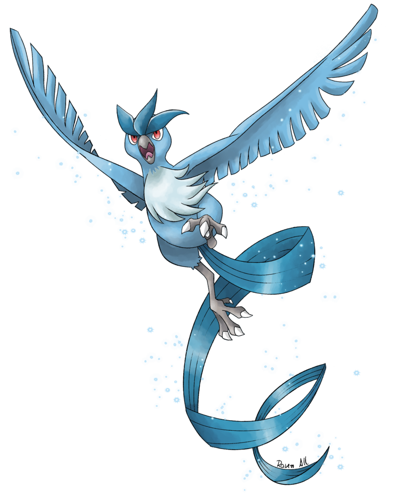 Articuno transparent tribal. S flight by allocen
