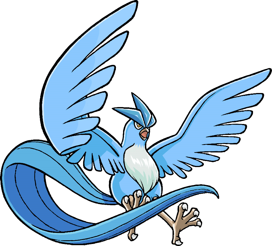 Articuno transparent. Pokemon png stickpng