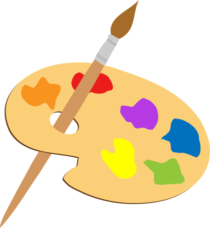 Artist clipart art contest. Paintbrush palette painting drawing