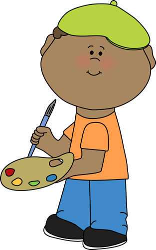 painting clipart little boy
