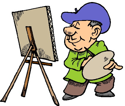 Artist clipart artisans. Painting free