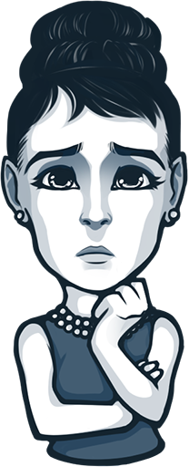 Artists drawing celebrity. Audrey hepburn thinglink stickers