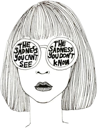 Drawing Sadness Emo Transparent Png Clipart Free Download Ya