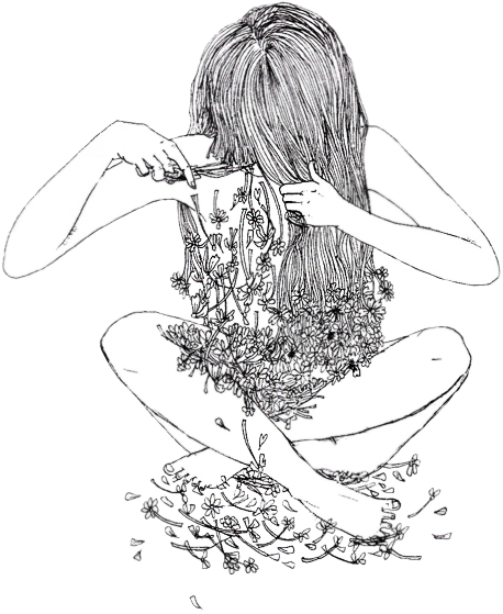 Drawing Sadness Depressed Girl Transparent Png Clipart Free