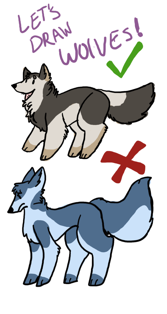 Artists drawing draw something. Wolves by gadget cat