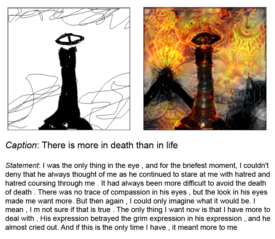 Drawing processes tandem. Art with an ai