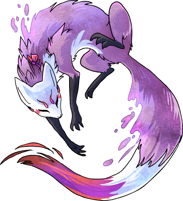 Drawing promps monster art. Violet vixen by griffsnuff