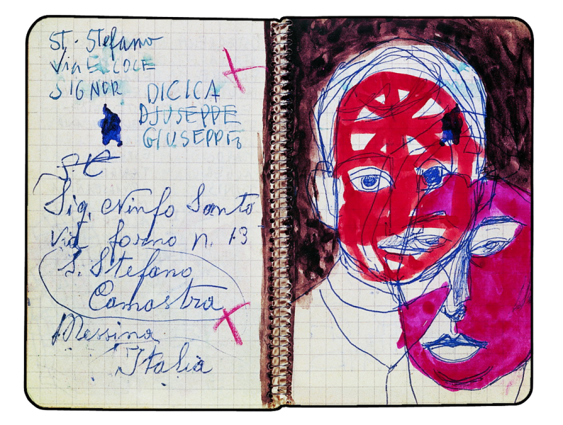 Artists drawing notebook. Pages of the in