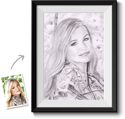 Arts drawing portrait. Turn photos into paintings
