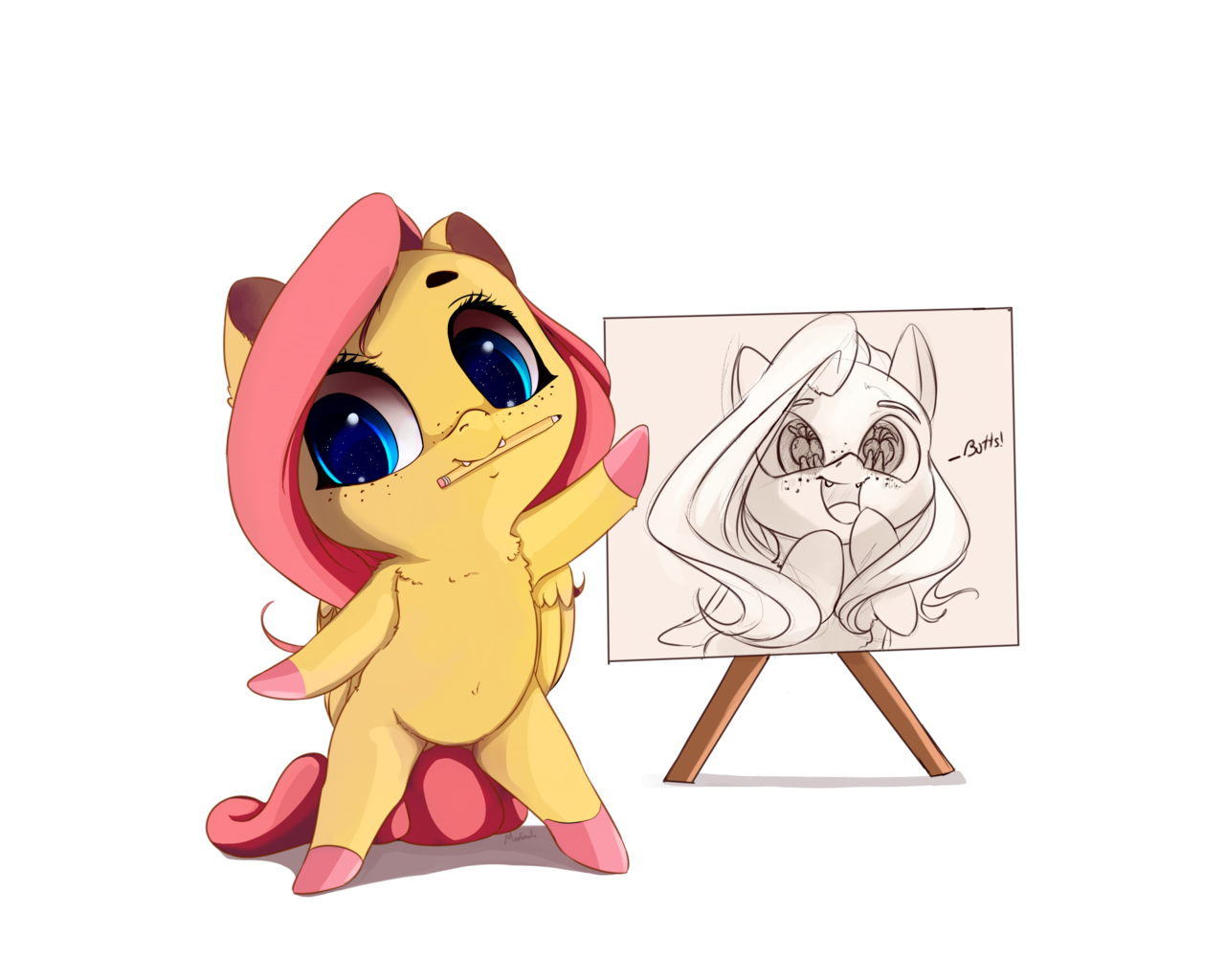 eve drawing chibi