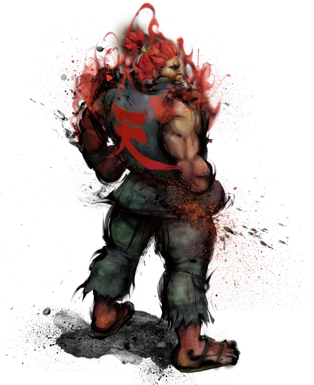 Akuma drawing i walk alone. From street fighter characters