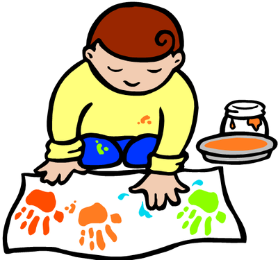 Craft clipart craft table. Kids arts and crafts