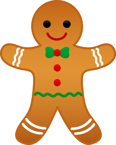 People clipart candy. Christmas gingerbread man free