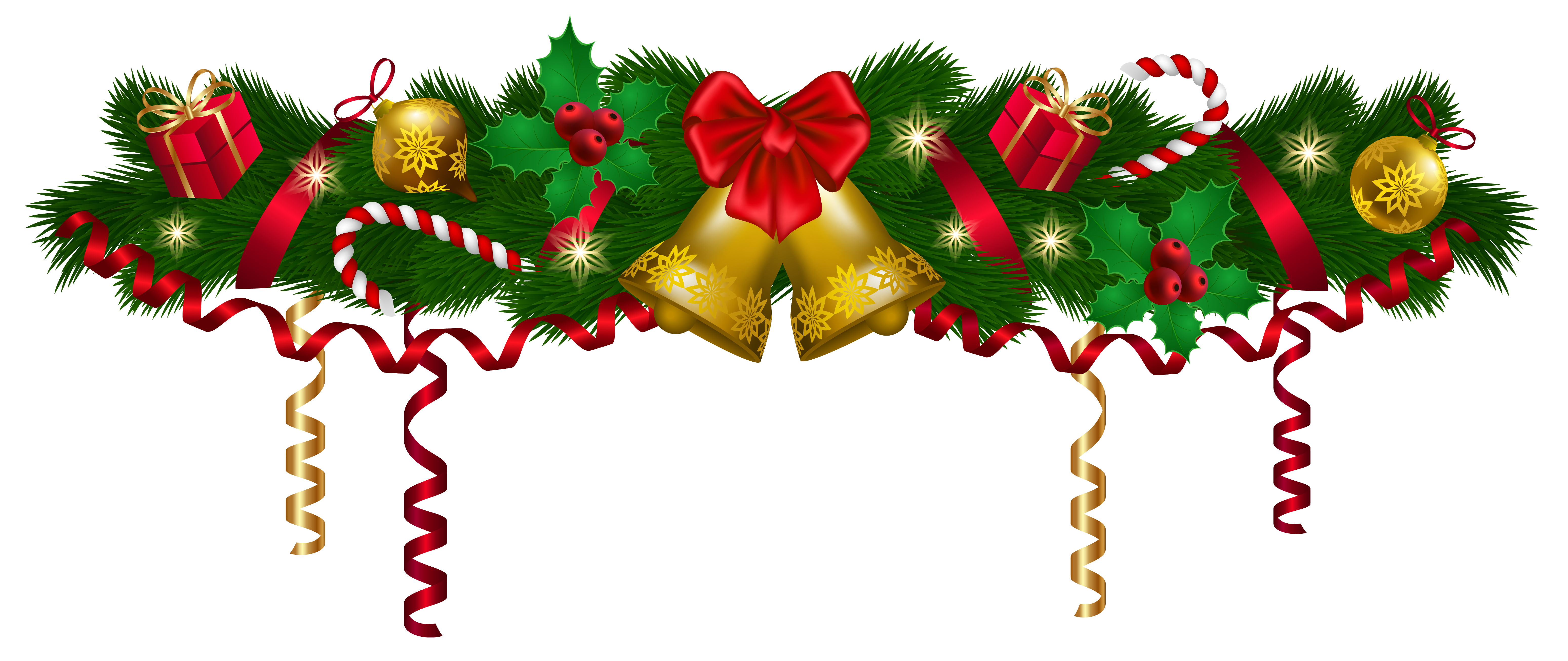 Garland png. Christmas eve clipart at