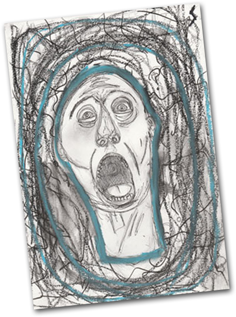 Drawing scary anxiety. Disorders worry not help