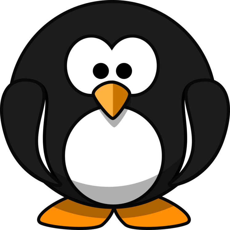 Tux drawing color graphic. Penguin clip art artistic image free library