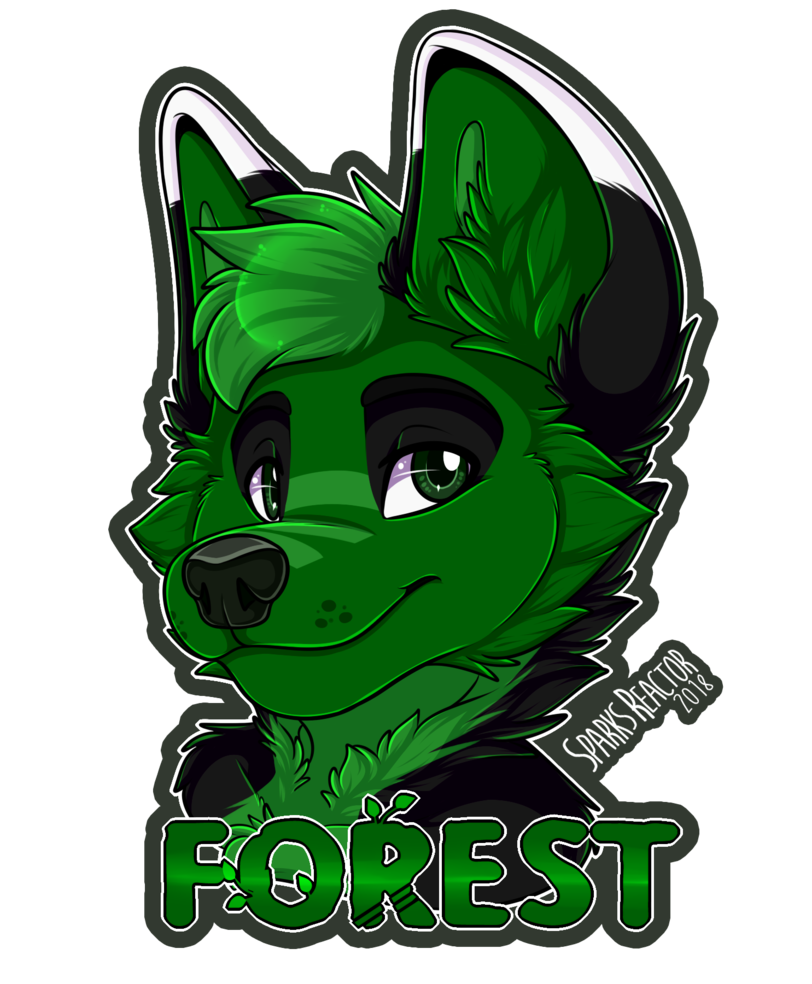 Forrest drawing fantasy. Forest badge by sparksfur