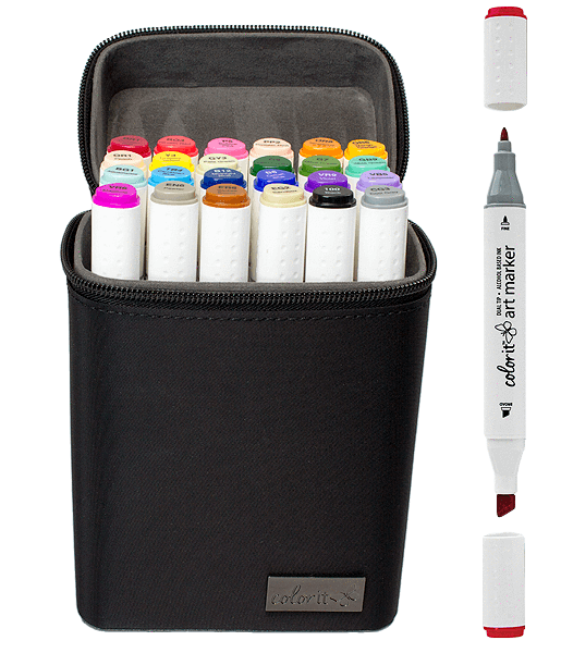 Product drawing copic marker. Color dual tip