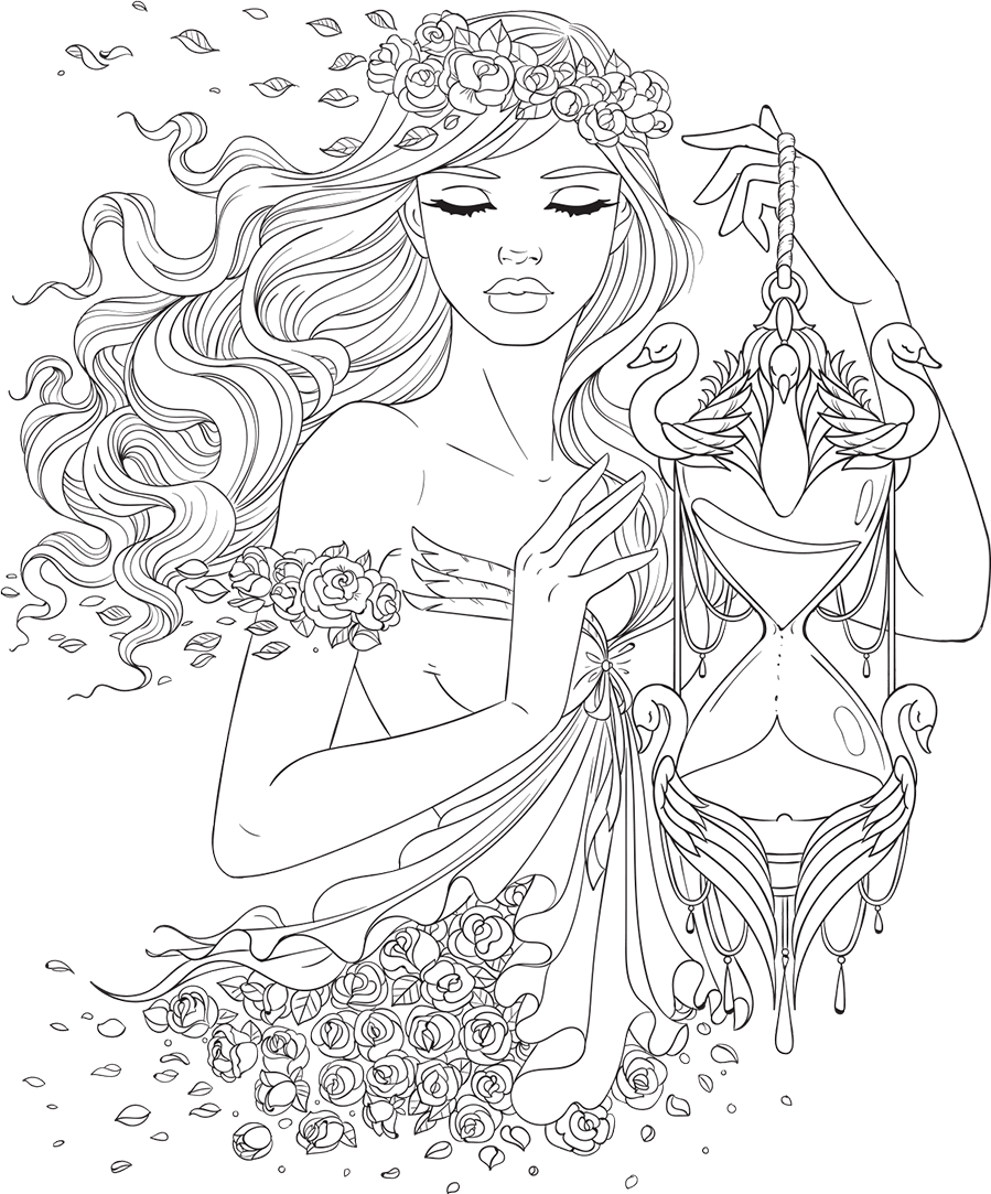 Artsy drawing colorful. Line free adult coloring