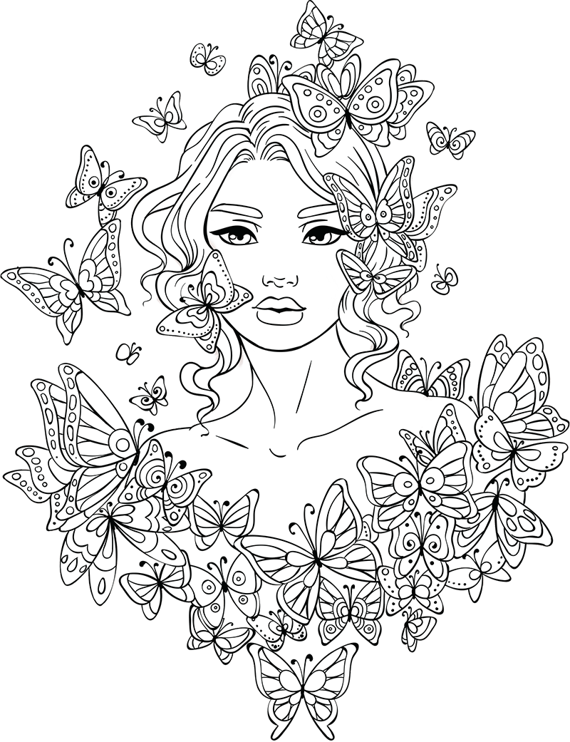 J drawing coloring page. Line artsy free adult