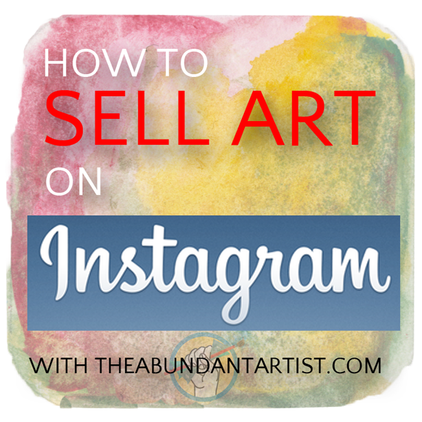 Artsy drawing instagram. How to sell art