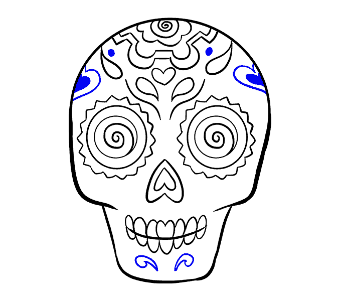 Colored drawing skull. How to draw a