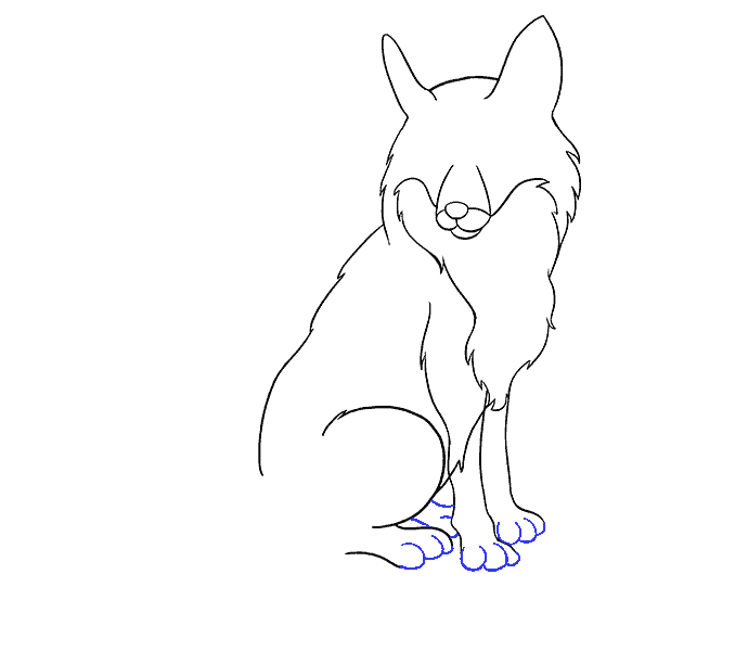 mammal drawing fox