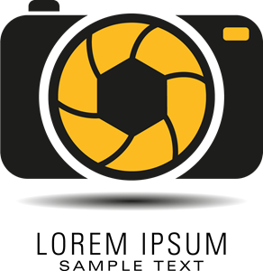 As vector photograph. Photo camera logo ai