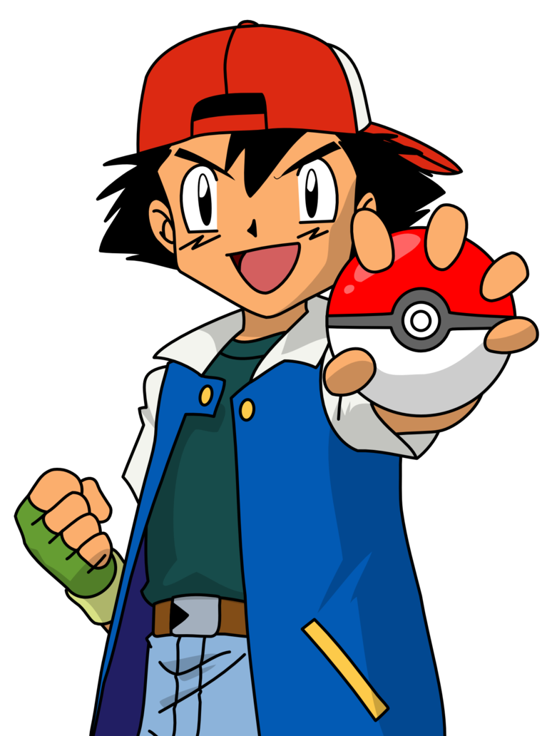 Ash pokemon png. Ketchum by mighty on