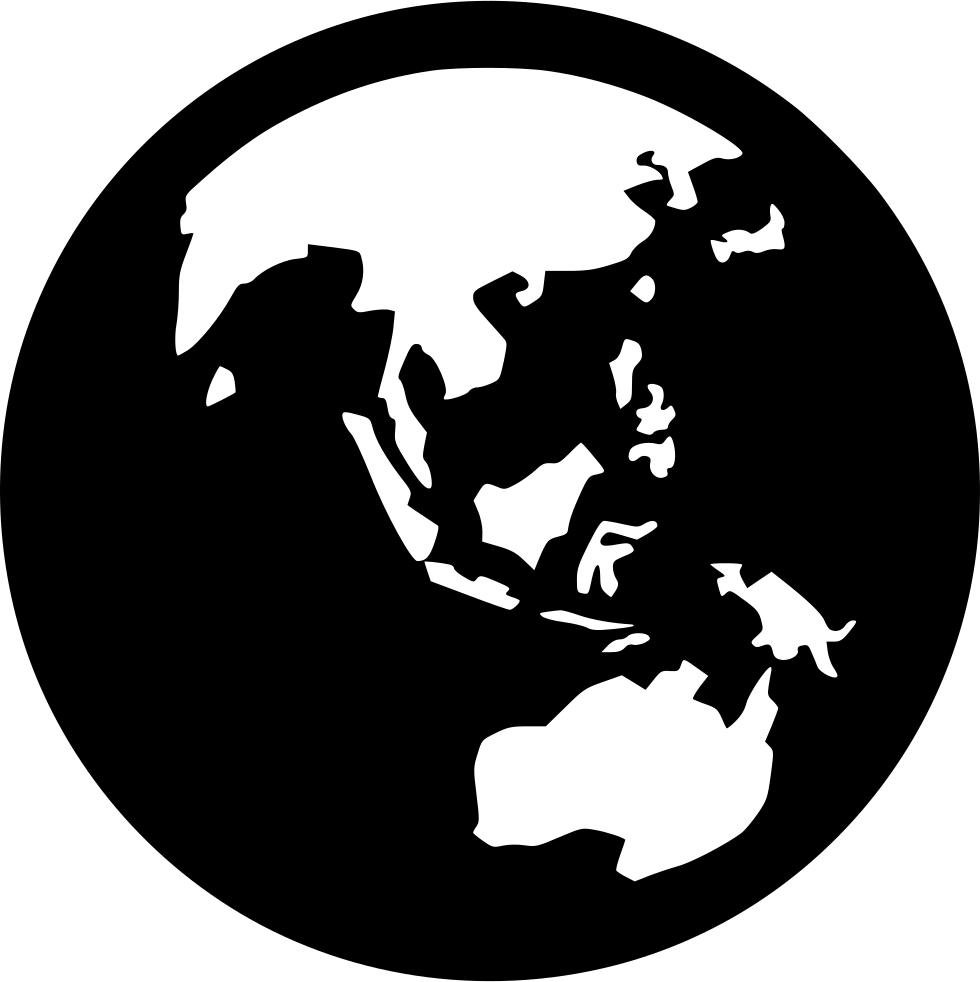 Asia drawing earth. Collection of high