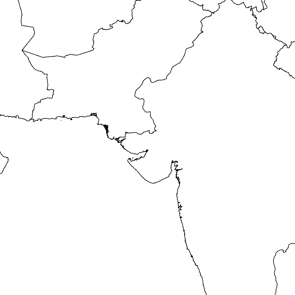 Asia drawing map. Irrigated area africa
