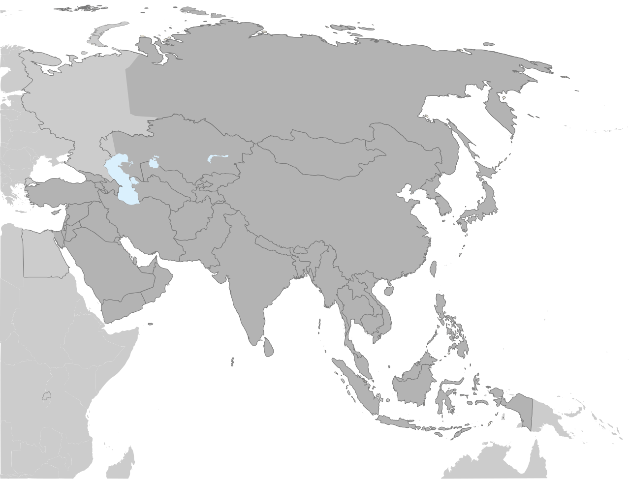 asia drawing map